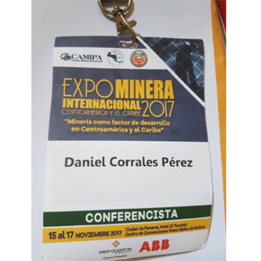 Conferencia de CORES en la Expominera Internacional Centroamérica y el Caribe 2017
